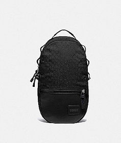 Coach reversible pacer backpack in signature cordu