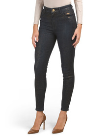 TRUE RELIGION Gold Shimmer Coated Caia Jeans