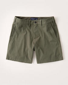 Seersucker Chino Shorts, OLIVE GREEN STRIPE