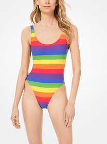 Michael Kors Rainbow Stripe Swimsuit