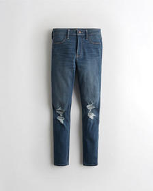 Hollister High-Rise Crop Jean Leggings, MEDIUM DES