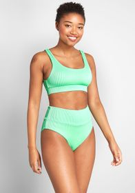 The Kaylan High-Waisted Bikini Bottom Mint