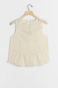 Anthropologie Angelica Lace Top