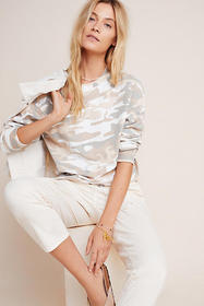Anthropologie Camo Sweatshirt