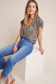 Anthropologie Amy Shimmer Blouse