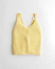 Hollister Twist-Back Sweater Tank, YELLOW