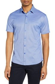Vince Camuto Slim Fit Short Sleeve Button-Up Shirt
