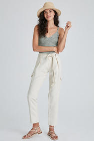 Anthropologie Paige Becca Tapered Cargo Pants