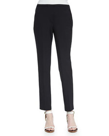 Elie Tahari Jillian Slim Wool Pants, Black