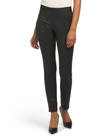 Lacquered Twill Leggings