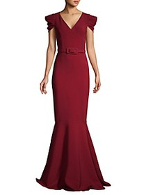 Michael Kors Cap-Sleeve Mermaid Gown
