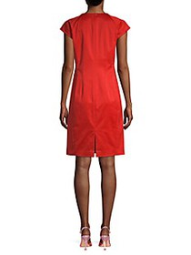 Lafayette 148 New York Cap-Sleeve Sheath Dress