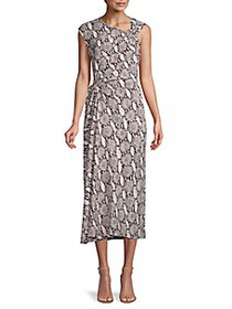 A.L.C. ​Snakeskin-Print Sleeveless Dress
