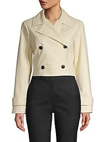 Donna Karan New York Cropped Button Trench Coat