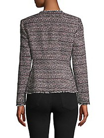 Rebecca Taylor Tweed Cotton-Blend Peplum Jacket