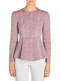 Giorgio Armani Graphic Print Seam Detail Jacket