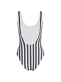 Cynthia Rowley Striped Boca One-Piece Swimsuit