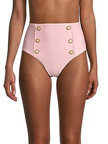 Jonathan Simkhai Button High-Waist Bikini Bottom