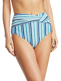Jonathan Simkhai Striped High-Waist Bikini Bottom