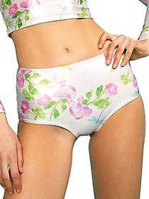 Cynthia Rowley Bailey Metallic Rose Bikini Bottom