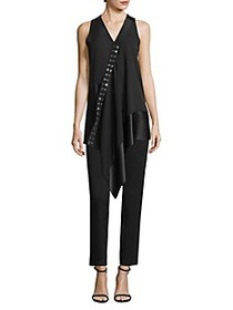 Derek Lam Sleeveless Asymmetrical Mixed Media Blou