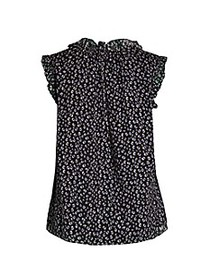 Rebecca Taylor Printed Silk-Blend Top