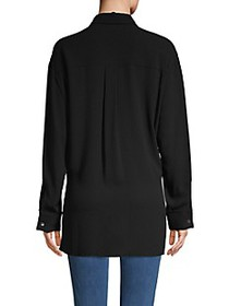 Michael Kors Collection Tie-Front Silk Shirt