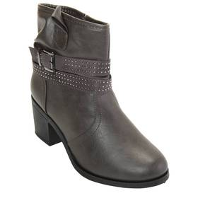 Womens Wanted Glendale Block Heel Ankle Boots
