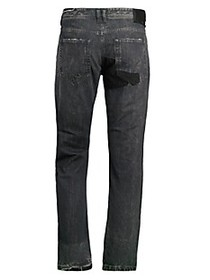Diesel Distressed Straight Jeans