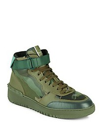 Valentino Garavani Leather Mid Top Sneakers