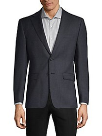 Calvin Klein Plaid Wool-Blend Blazer