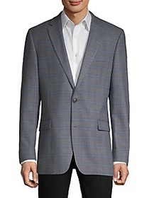 Tommy Hilfiger Standard-Fit Patterned Blazer