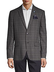 Ben Sherman Plaid Standard-Fit Coat