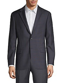 Hickey Freeman Mini Check-Print Wool Sportcoat