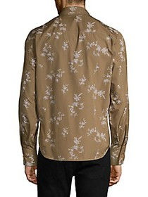 Helmut Lang Floral Cotton Long-Sleeve Shirt