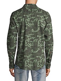 BUFFALO David Bitton Camo-Print Cotton Shirt