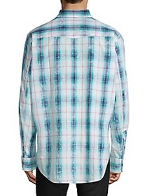 Diesel Black Gold Plaid Long-Sleeve Shirt