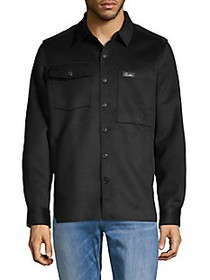 Ovadia & Sons Spread Collar Wool-Blend Overshirt