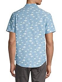 Original Penguin Cloud-Print Short-Sleeve Shirt
