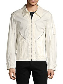 Helmut Lang Full-Zip Cotton Aviator Jacket