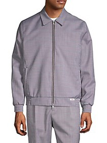 Ovadia & Sons Mcgregor Print Point-Collar Bomber J