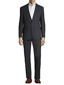 Calvin Klein Slim-Fit Plaid Suit