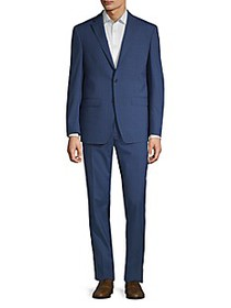 Calvin Klein Slim-Fit Plaid Wool-Blend Suit