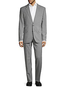 Karl Lagerfeld Slim-Fit Check Wool-Blend Suit