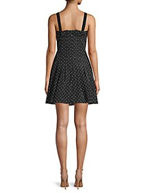 Rebecca Taylor Dotted Fit-&-Flare Dress