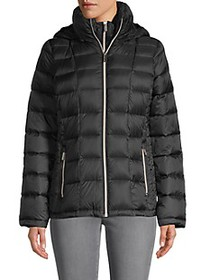 MICHAEL Michael Kors Packable Hood Nylon Down Park