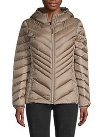MICHAEL Michael Kors Chevron-Quilted Down-Fill Jac