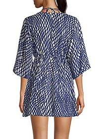 Milly Ava Printed Silk-Blend Coverup