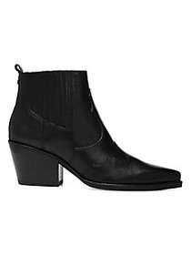 Sam Edelman Winona Western Leather Ankle Boots