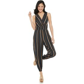 Juniors' Live To Be Spoiled Tapered Leg Striped Ju